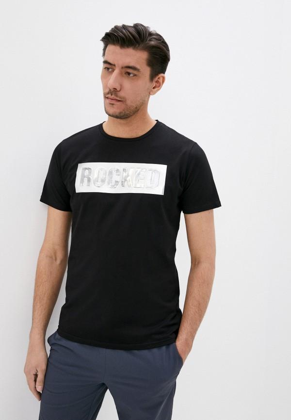 мужская футболка с коротким рукавом x-feel, черная