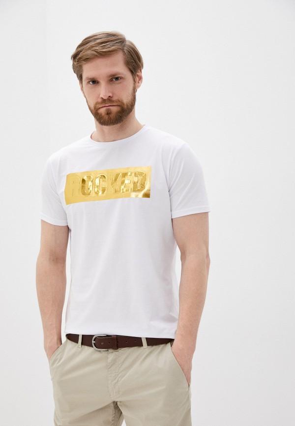 мужская футболка с коротким рукавом x-feel, белая