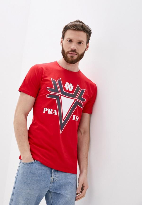мужская футболка с коротким рукавом x-feel, красная