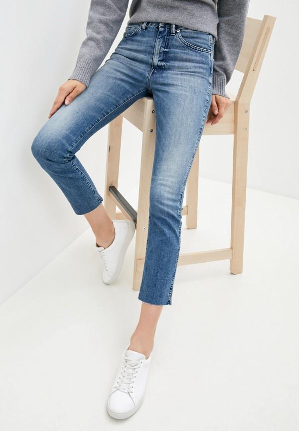 женские джинсы скинни 3x1, голубые