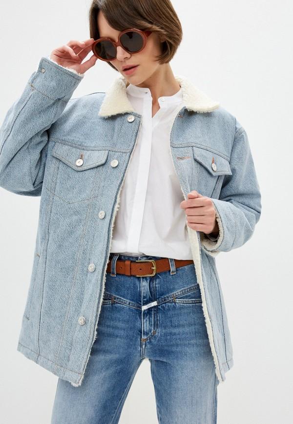 женская джинсовые куртка 3x1, голубая