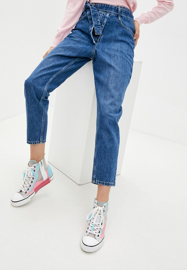 женские джинсы-мом 3x1, синие