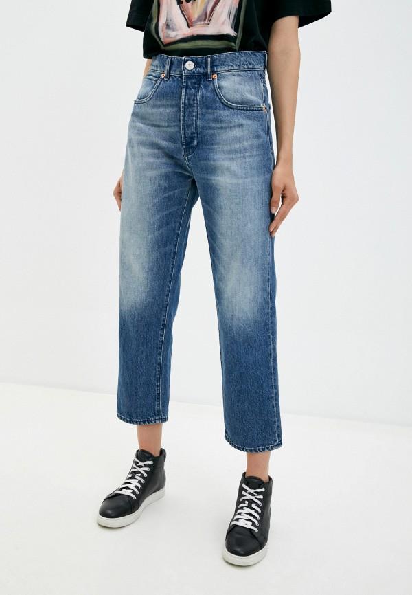 женские джинсы бойфренд 3x1, синие