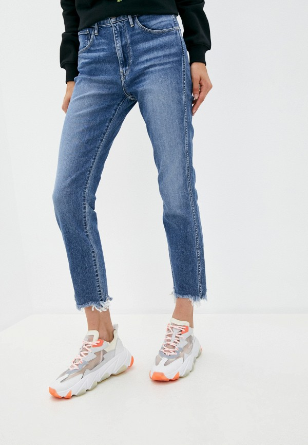женские прямые джинсы 3x1, синие