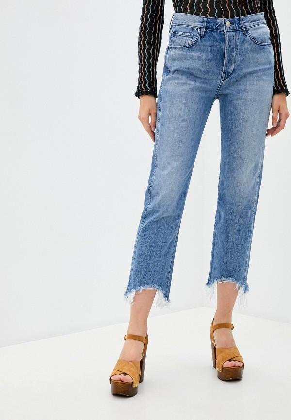 женские джинсы клеш 3x1, голубые