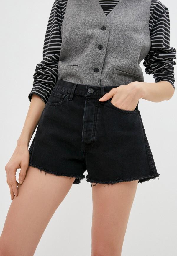 женские джинсовые шорты 3x1, черные
