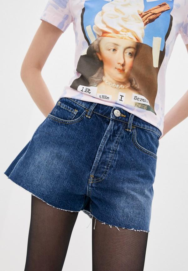 женские джинсовые шорты 3x1, синие