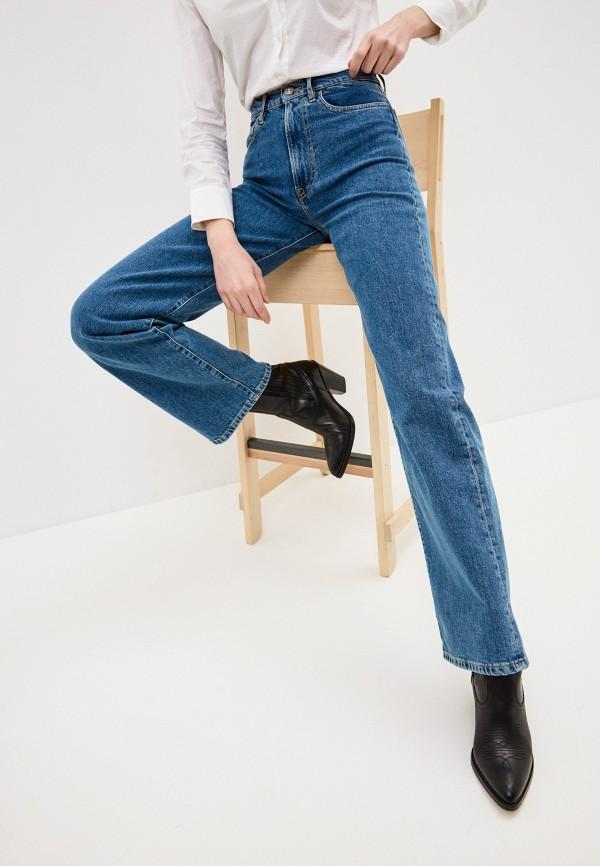 женские джинсы клеш 3x1, синие