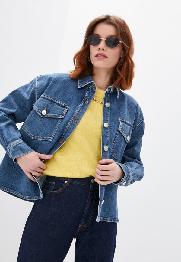 женская джинсовые рубашка 3x1, синяя