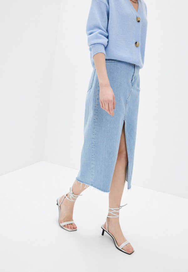женская джинсовые юбка 3x1, голубая