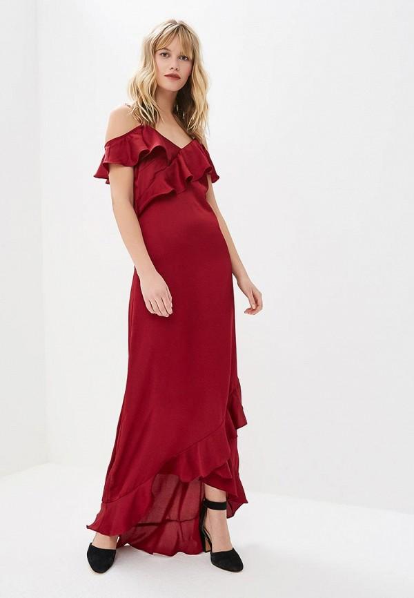 женское вечерние платье y.a.s, бордовое