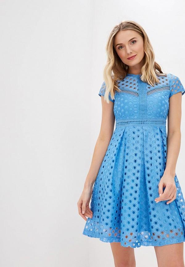 женское повседневные платье y.a.s, голубое