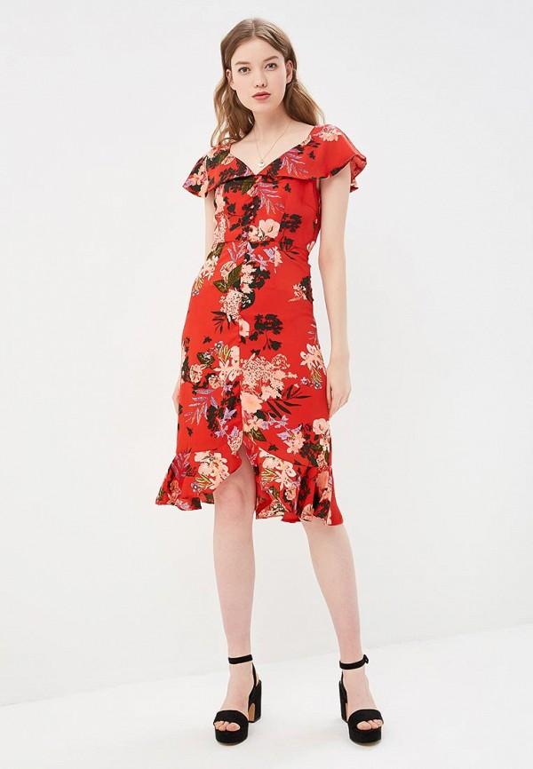 женское повседневные платье y.a.s, красное