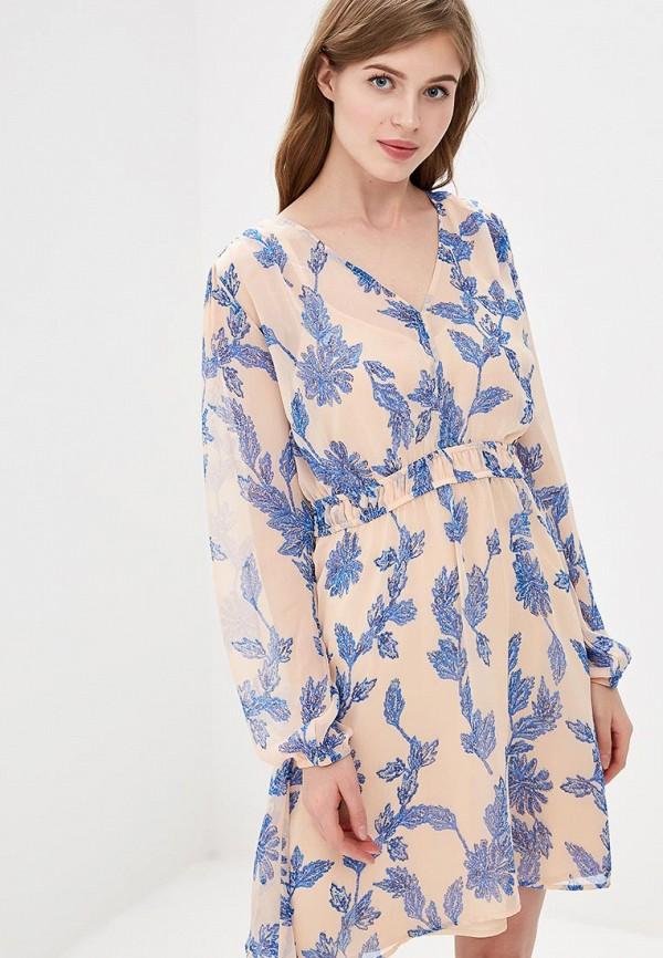 женское повседневные платье y.a.s, розовое