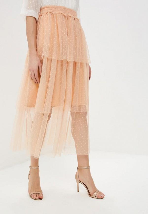 женская юбка y.a.s, розовая