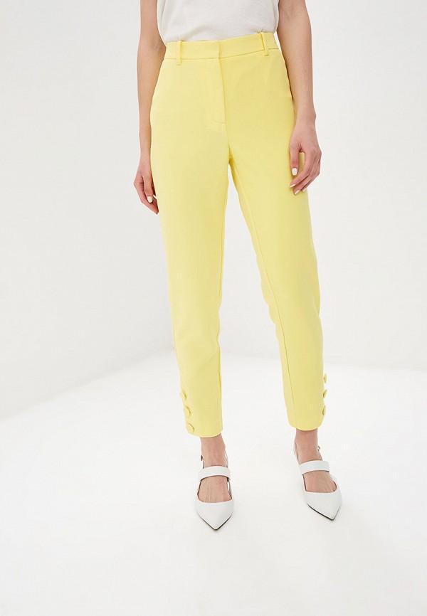 женские классические брюки y.a.s, желтые