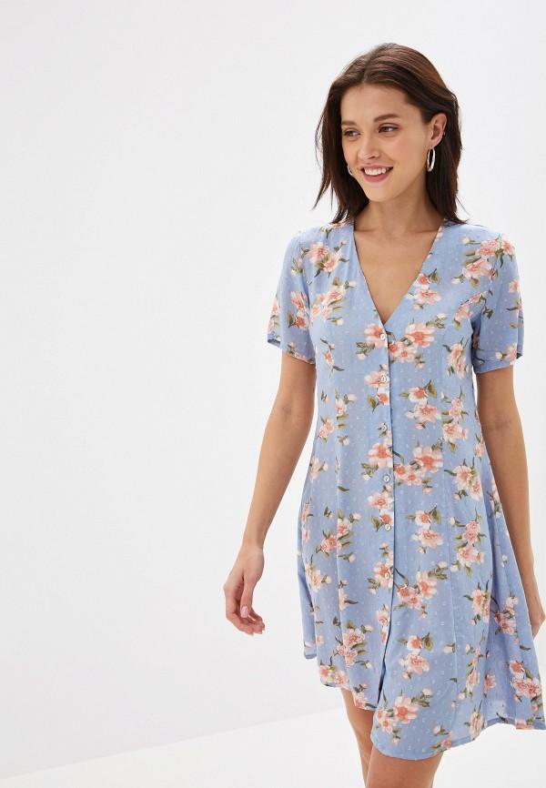 женское повседневные платье y.a.s, синее