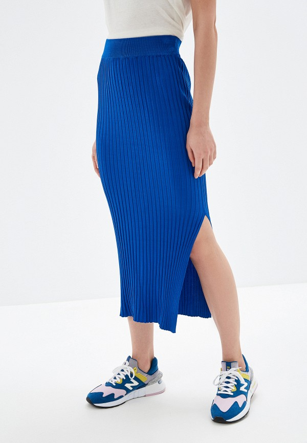 женская зауженные юбка y.a.s, синяя