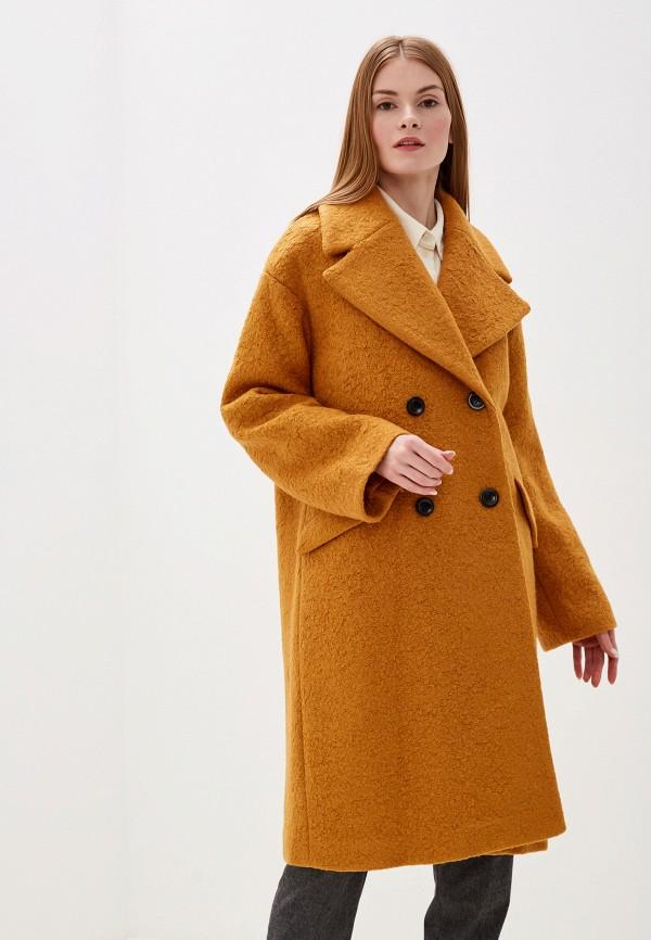 женское пальто y.a.s, желтое