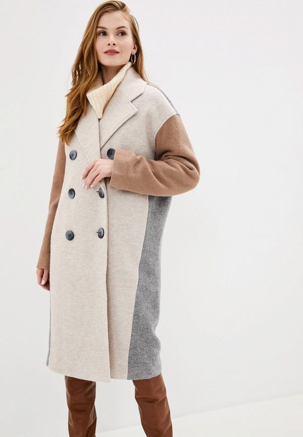 женское пальто y.a.s, коричневое