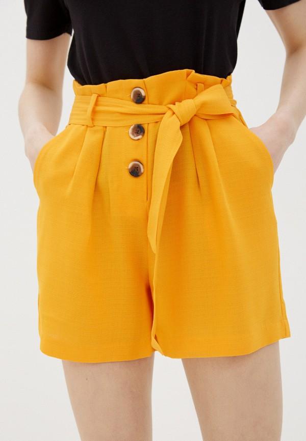 женские повседневные шорты y.a.s, желтые