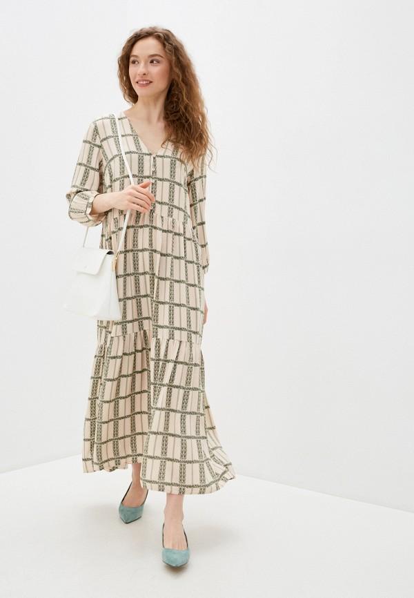 женское повседневные платье y.a.s, бежевое
