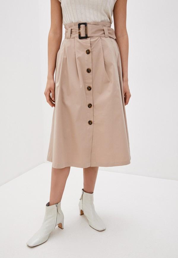 женская юбка y.a.s, бежевая