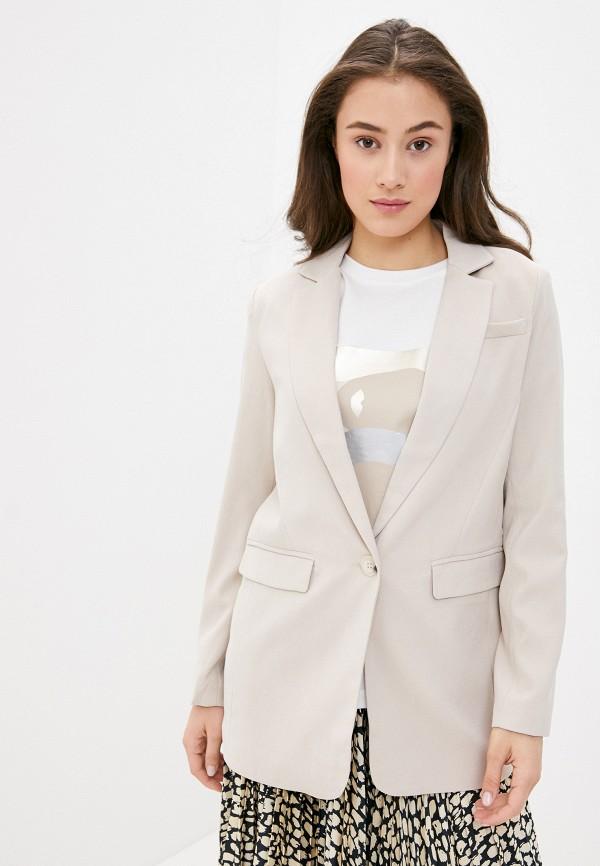 женский пиджак y.a.s, бежевый