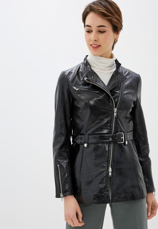 женская куртка y.a.s, черная