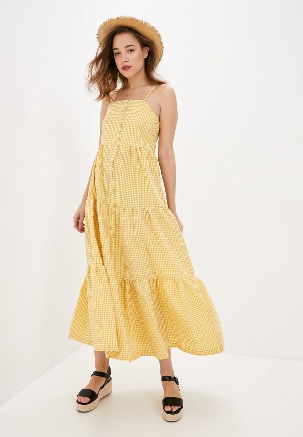 женский сарафан y.a.s, желтый