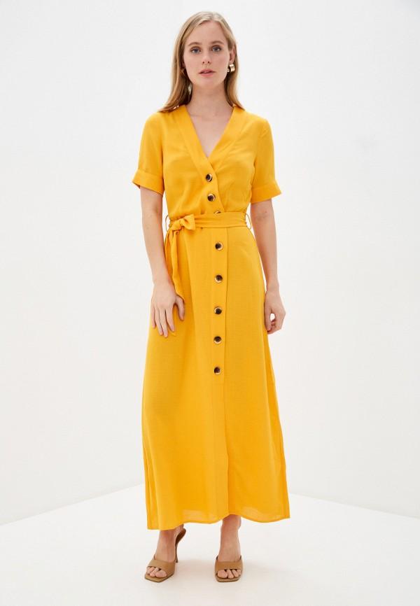 женское повседневные платье y.a.s, желтое