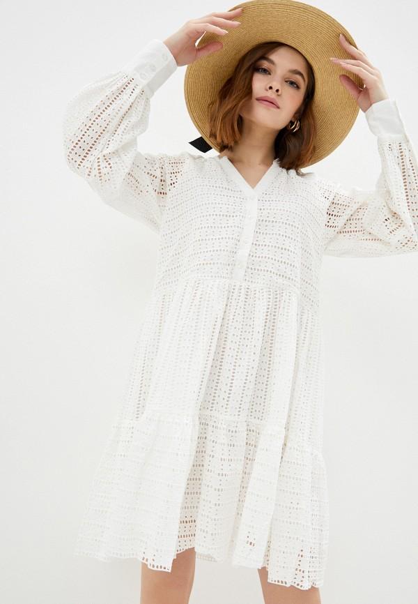 женское повседневные платье y.a.s, белое