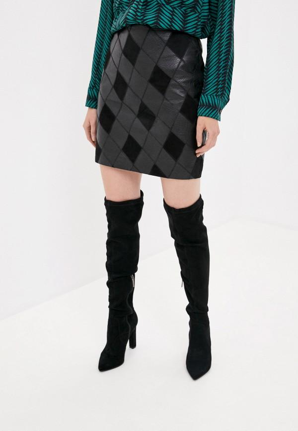 женская юбка y.a.s, черная