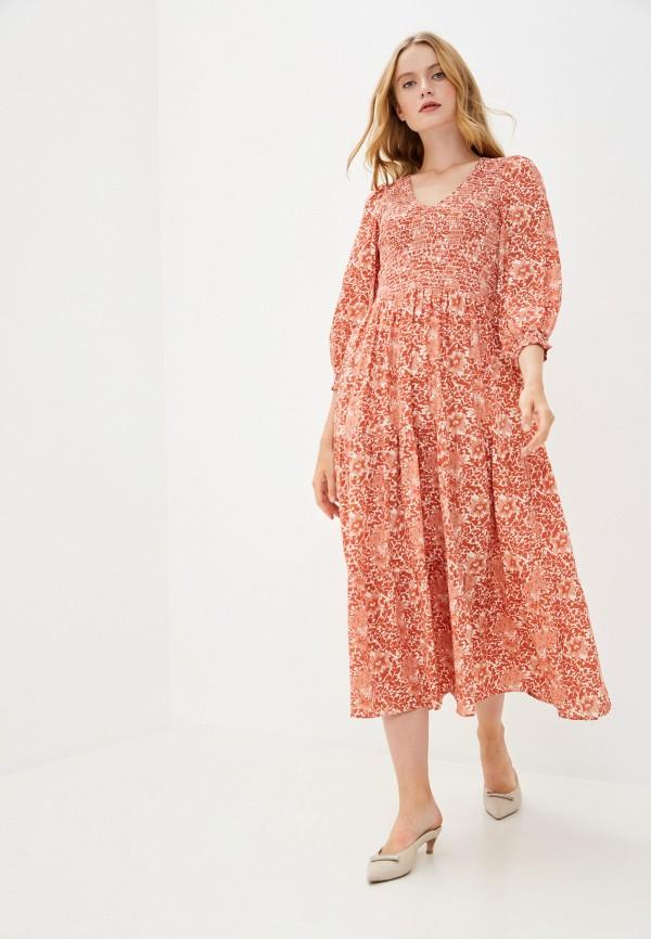 женское повседневные платье y.a.s, оранжевое