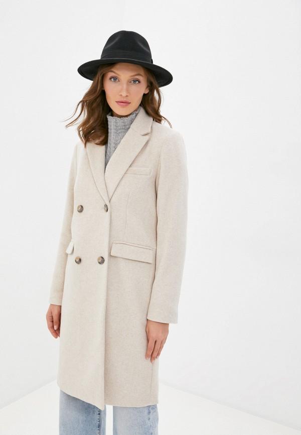 женское пальто y.a.s, бежевое