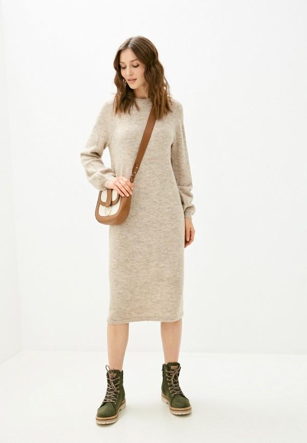женское платье y.a.s, бежевое