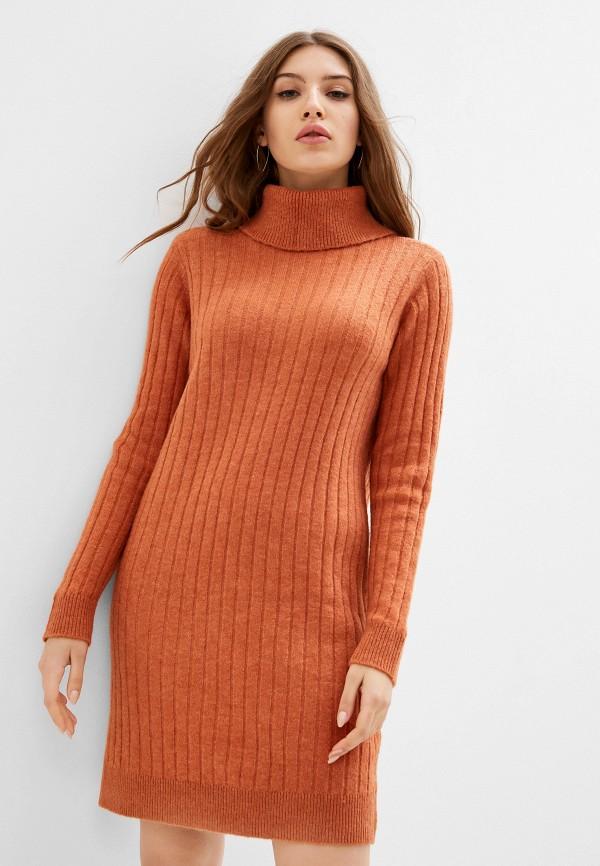 женское платье y.a.s, коричневое