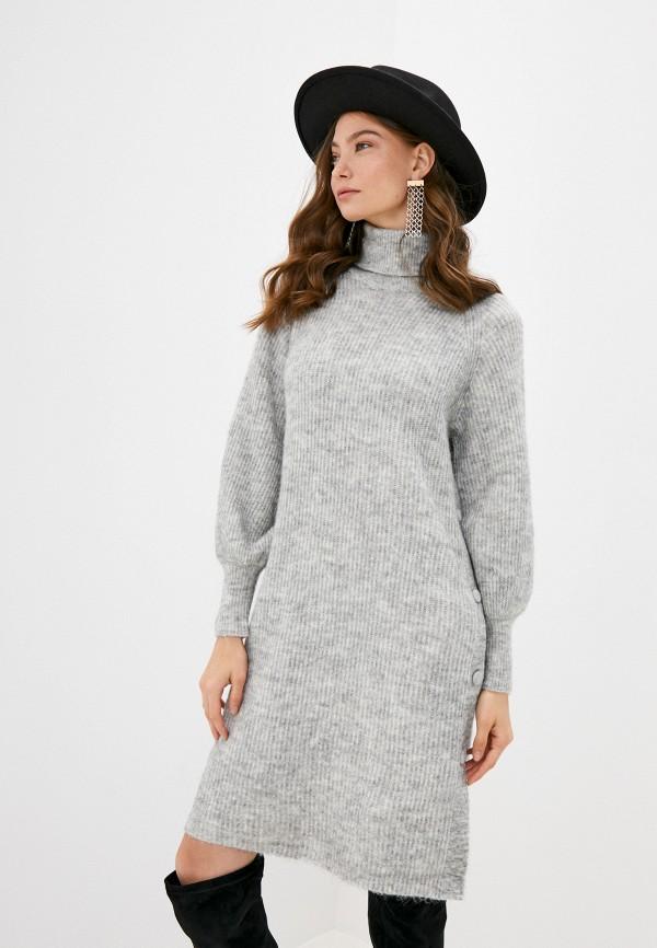 женское платье y.a.s, серое