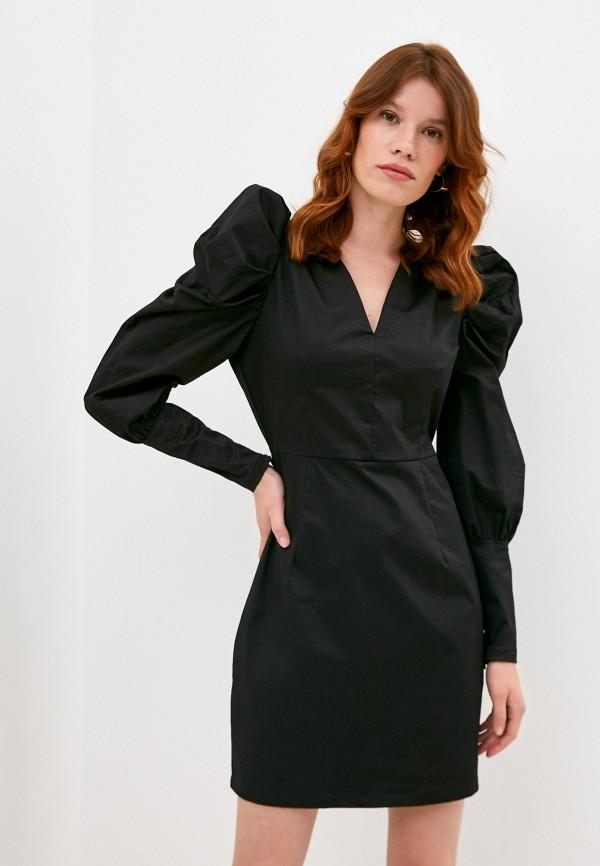 женское повседневные платье y.a.s, черное