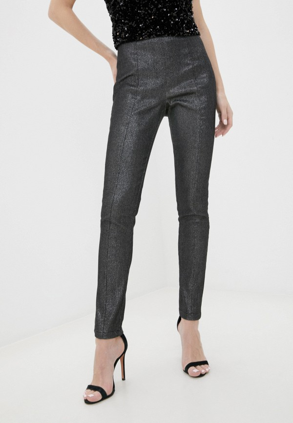 женские повседневные брюки y.a.s, серебряные