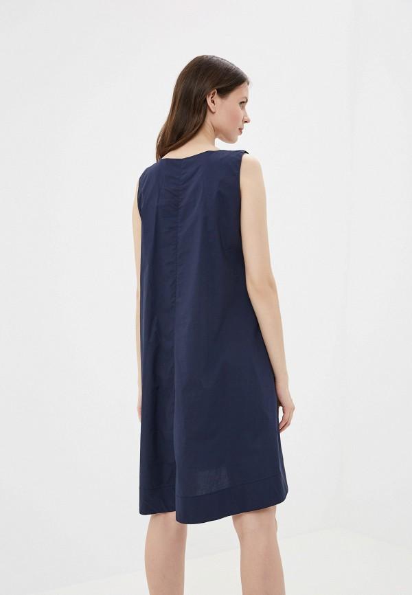 Фото 3 - Платье You&You синего цвета
