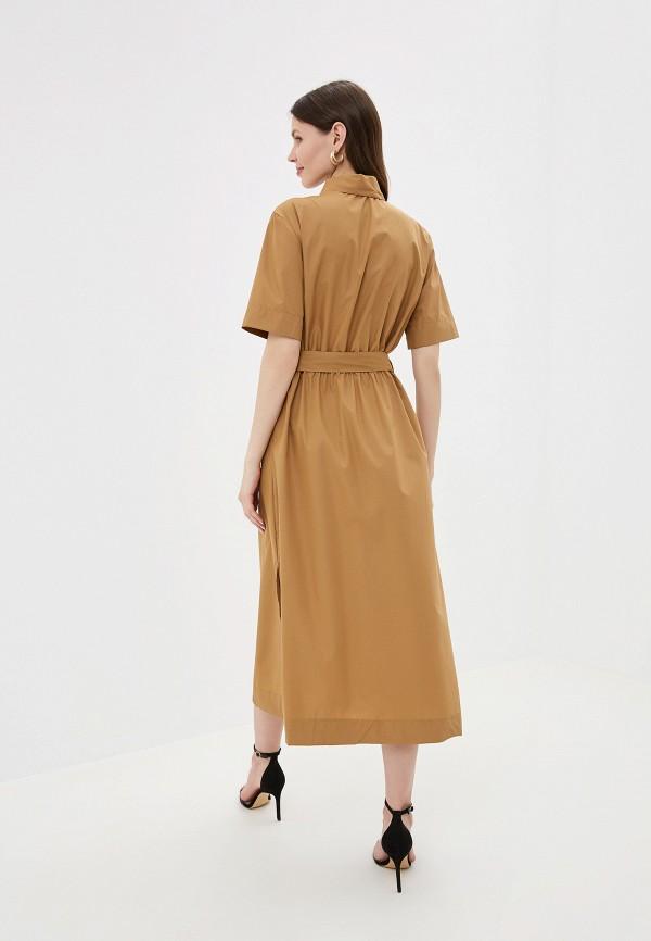 Фото 3 - Платье You&You коричневого цвета