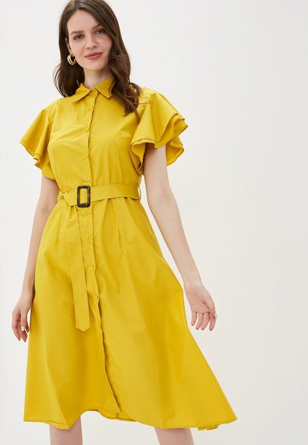 Фото 4 - Платье You&You желтого цвета