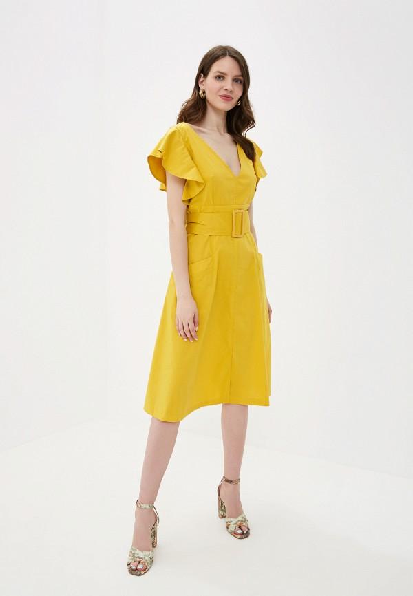 Фото 2 - Платье You&You желтого цвета