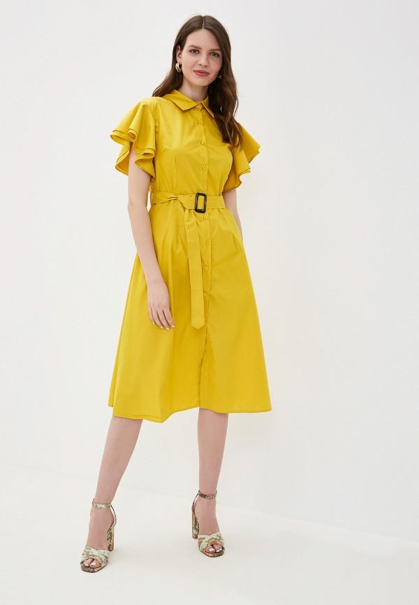 Фото 5 - Платье You&You желтого цвета