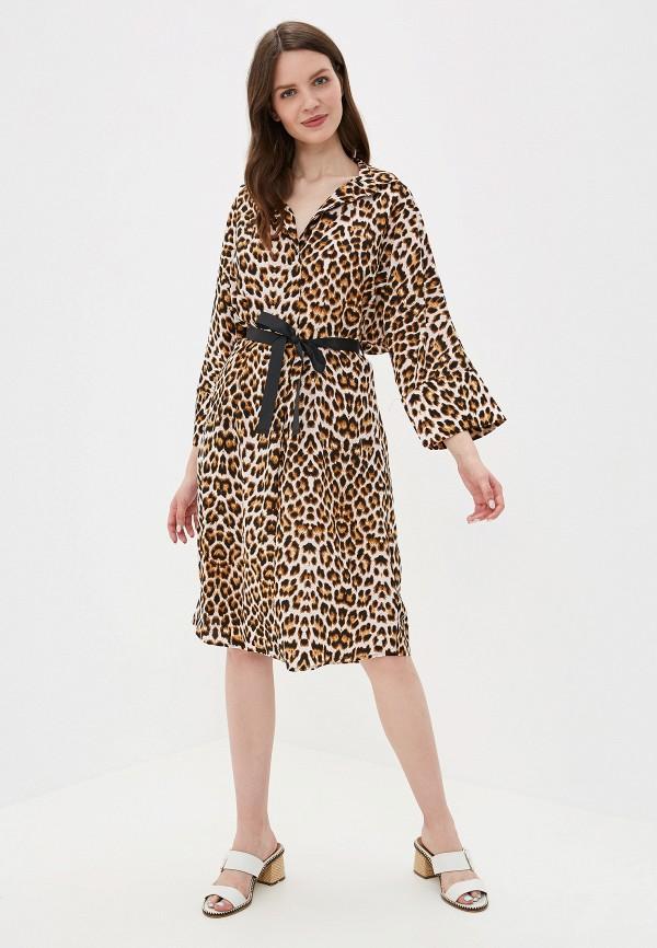 Фото 2 - Платье You&You коричневого цвета