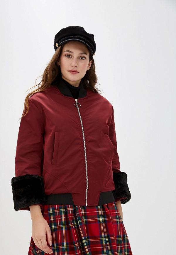 женская куртка you&you, бордовая