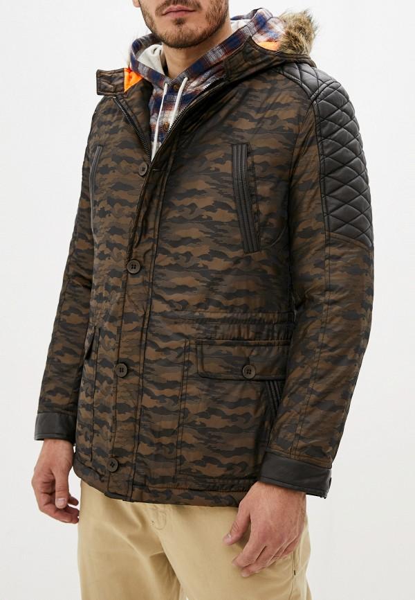 мужская куртка young & rich, коричневая