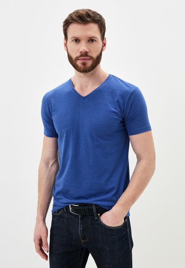 мужская футболка young & rich, синяя