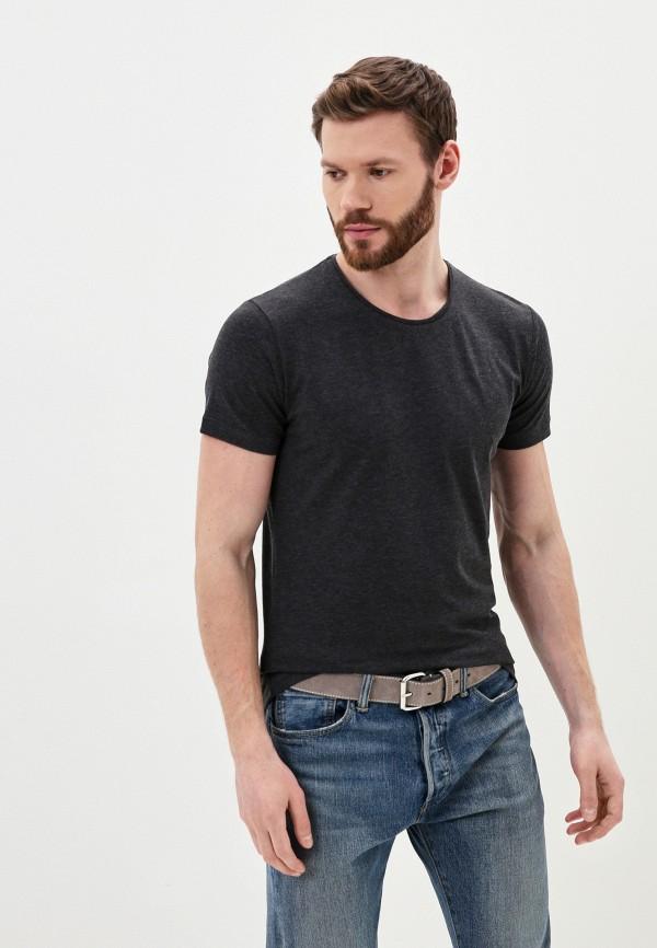 мужская футболка с коротким рукавом young & rich, серая